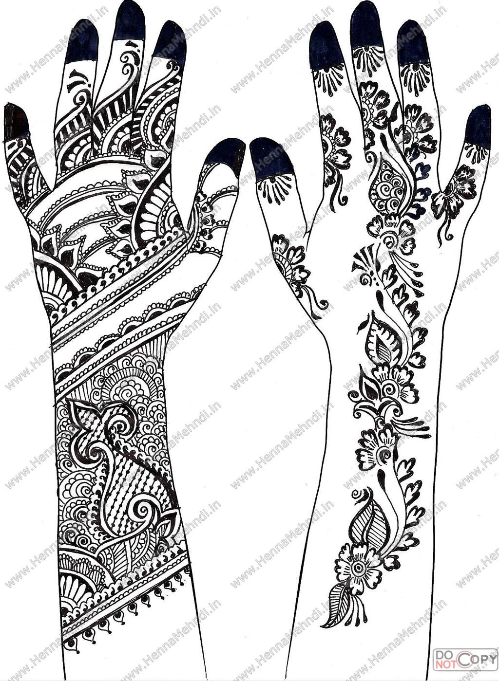 Henna Mehndi Designs-9 by hinasabreenArabic Mehendi Designs On Paper