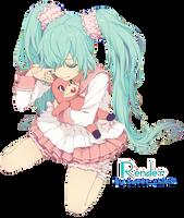 Hatsune Miku Render by Sweet-chibix