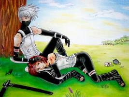 Kakashi and Rin: ANBU style by Ssvettlana