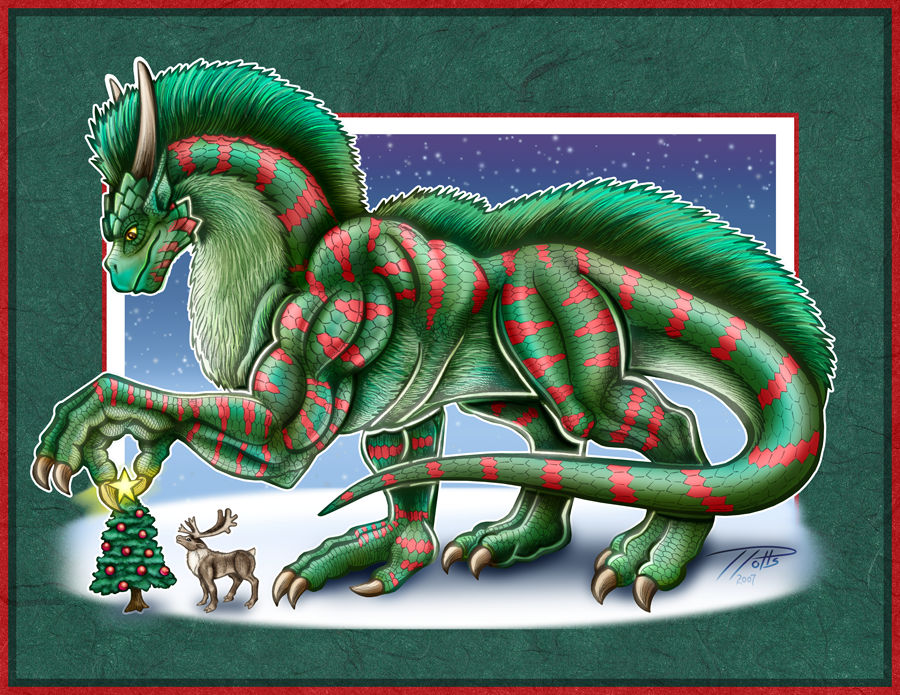 The Christmas Dragon.Decembra The Christmas Dragon By Dragonosx On Deviantart