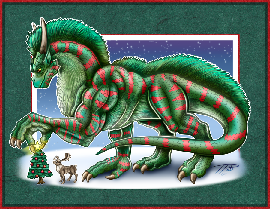 Decembra the Christmas Dragon by DragonosX on DeviantArt