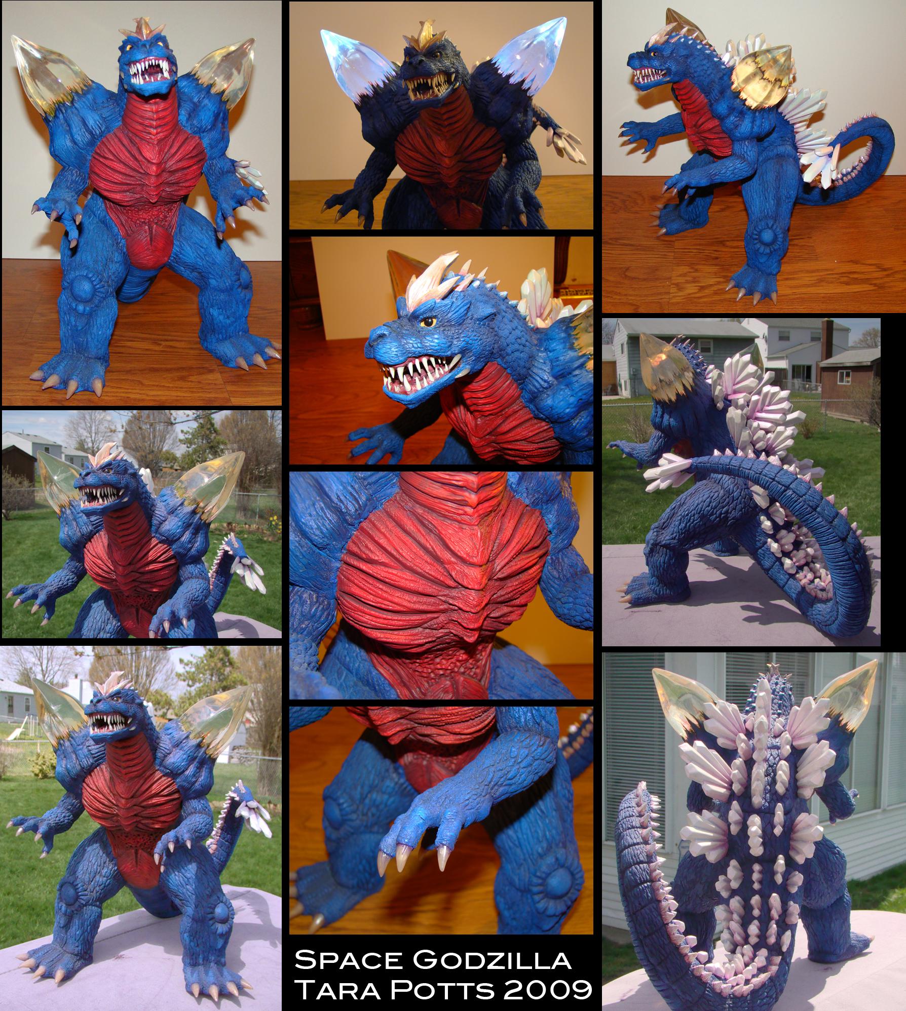 Space Godzilla sculpt by DragonosX