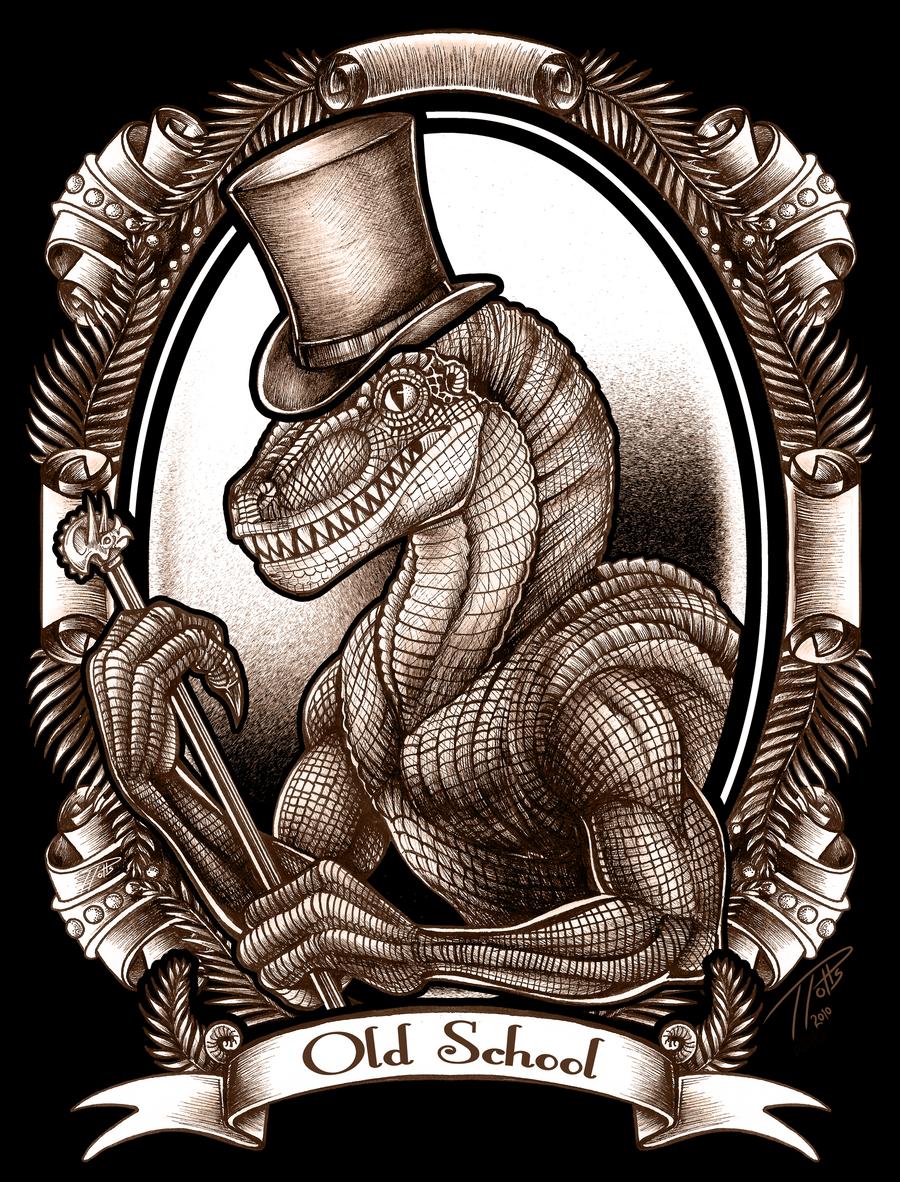 Old School Raptor by DragonosX