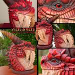 Red Dragon Volkaos Sculpt