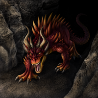 Red Cave Dragon by DragonosX