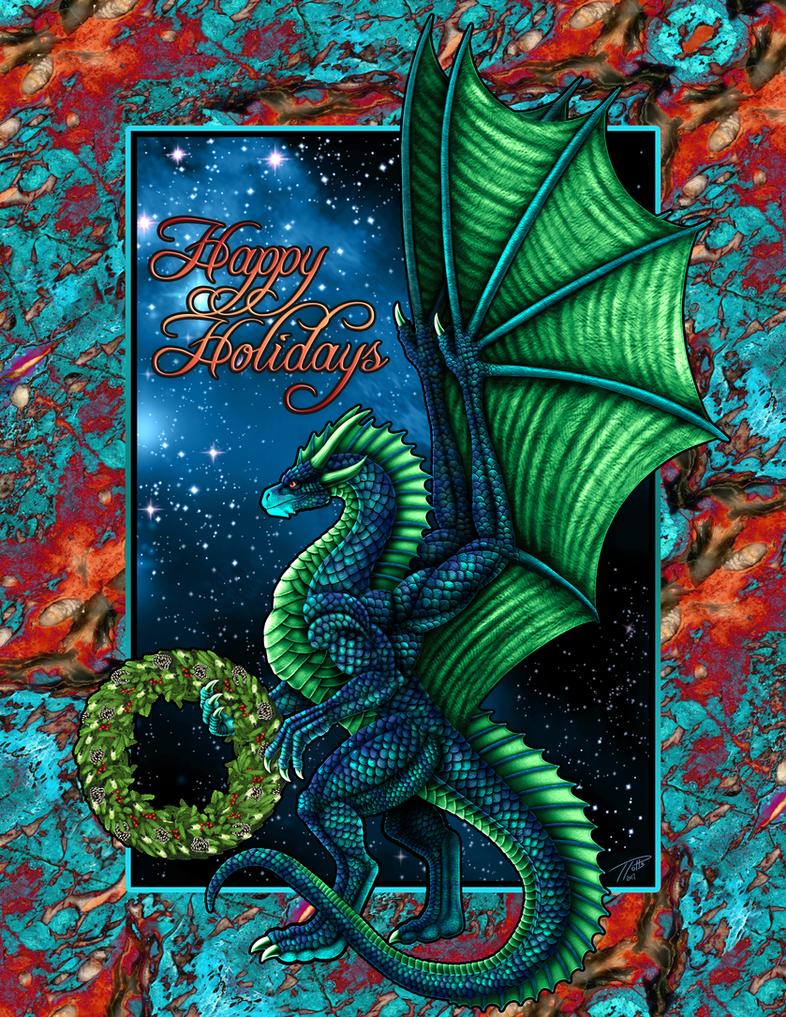 Christmas Dragon 2017 by DragonosX