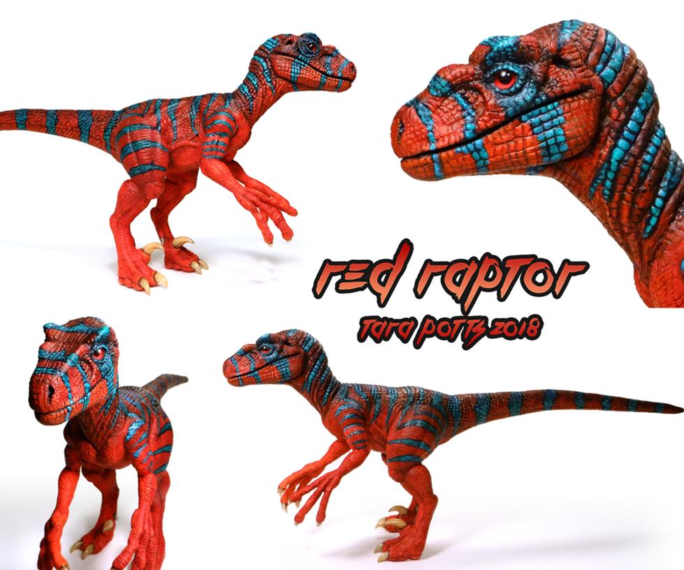 Red Raptor Sculpt by DragonosX