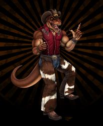 Jim the T-Rex Cowboy by DragonosX
