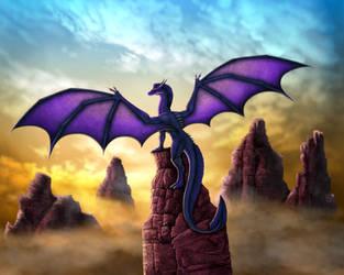 Canyon Dragon by DragonosX