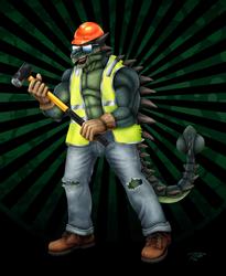 David the Demolition Crew Ankylosaurus by DragonosX