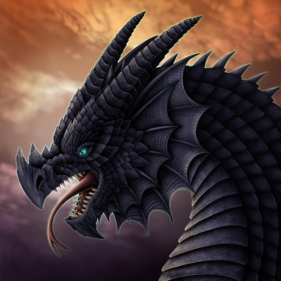 Nightshade Dragon by DragonosX