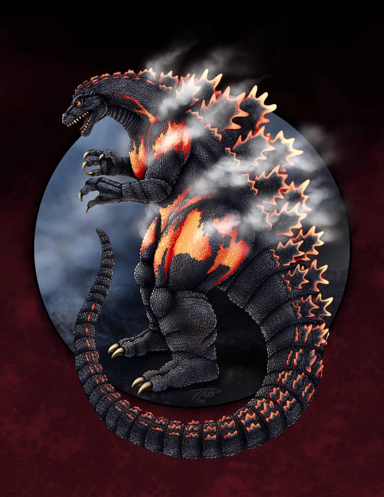 Burning Godzilla by DragonosX
