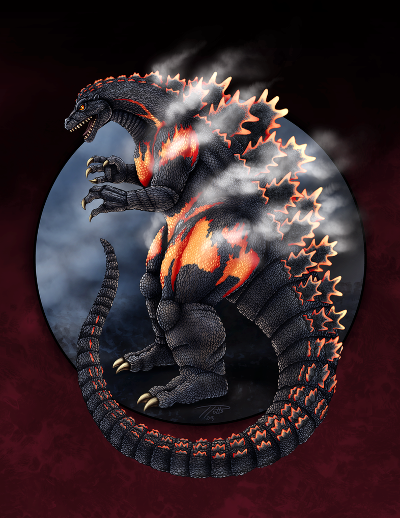Burning Godzilla by DragonosX