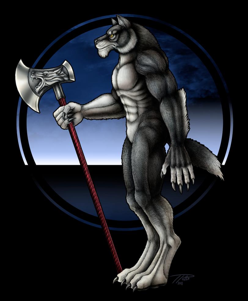 Wolfen Axeman by DragonosX