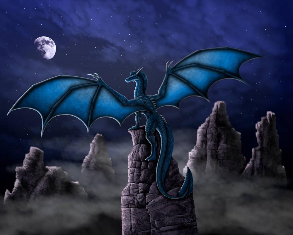Moonlight Canyon Dragon by DragonosX