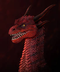 Fire Dragon Bust - Zbrush by DragonosX