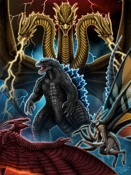 KOTM: Godzilla, Ghidorah, Rodan, Mothra