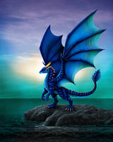Blue Dragon by the Sea