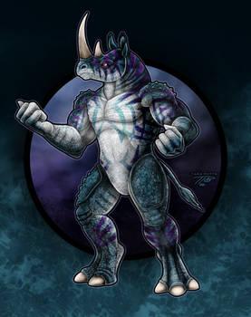 KaiJune 20 - Bykornus the Rhino