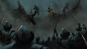 Arthur and Lancelot kick'n it
