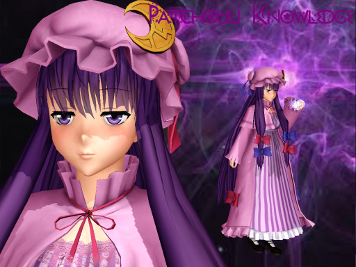 3d mmd patchouli knowledge dances to good luck 8
