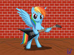 Rainbow Dash plays guitar