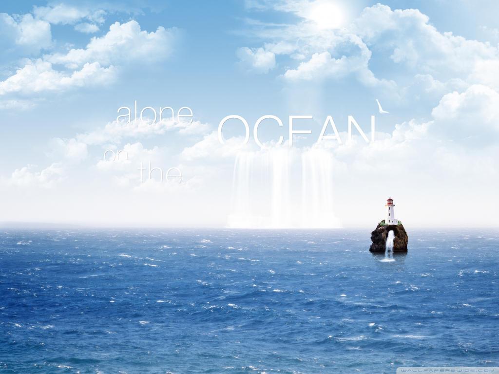 Alone On The Ocean-wallpaper-1920x1440 by DarkEagle2011