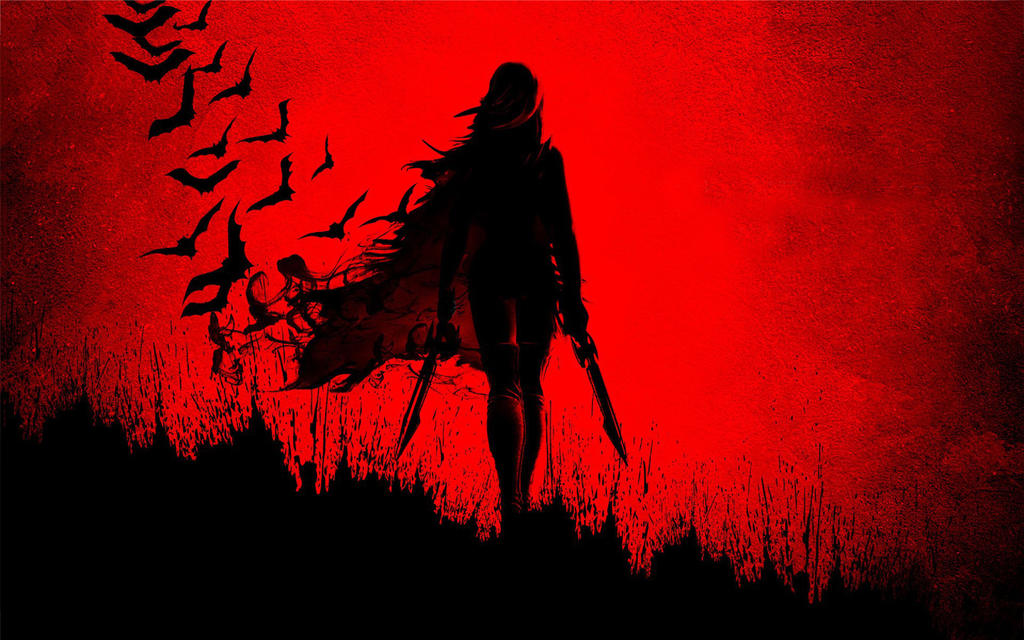 Girl-birds-blade-shadow-red-1920x1200 by DarkEagle2011
