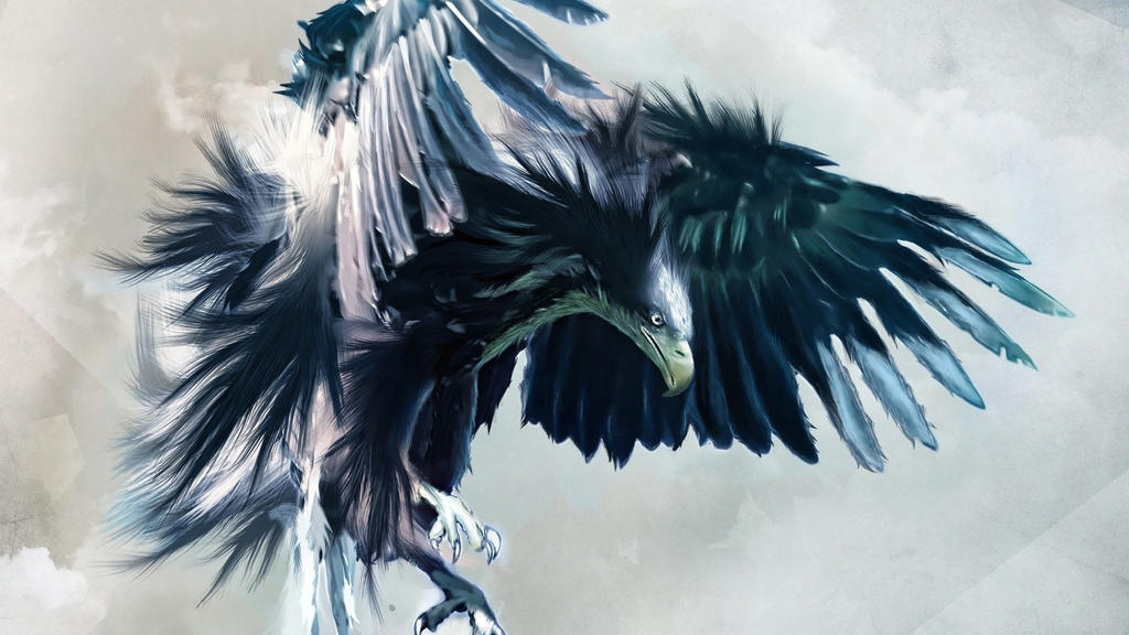 Abstract Birds Eagles Animated Drawings 1920x1080 by DarkEagle2011