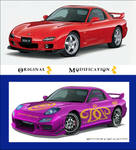 Mazda RX7 Girly Modification