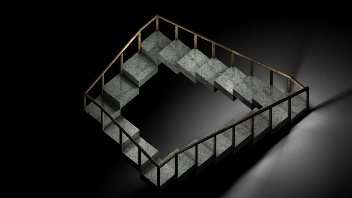 impossible stairs illusion penrose objects 4d down deviantart marvelous way deviant ratings yet dimensional