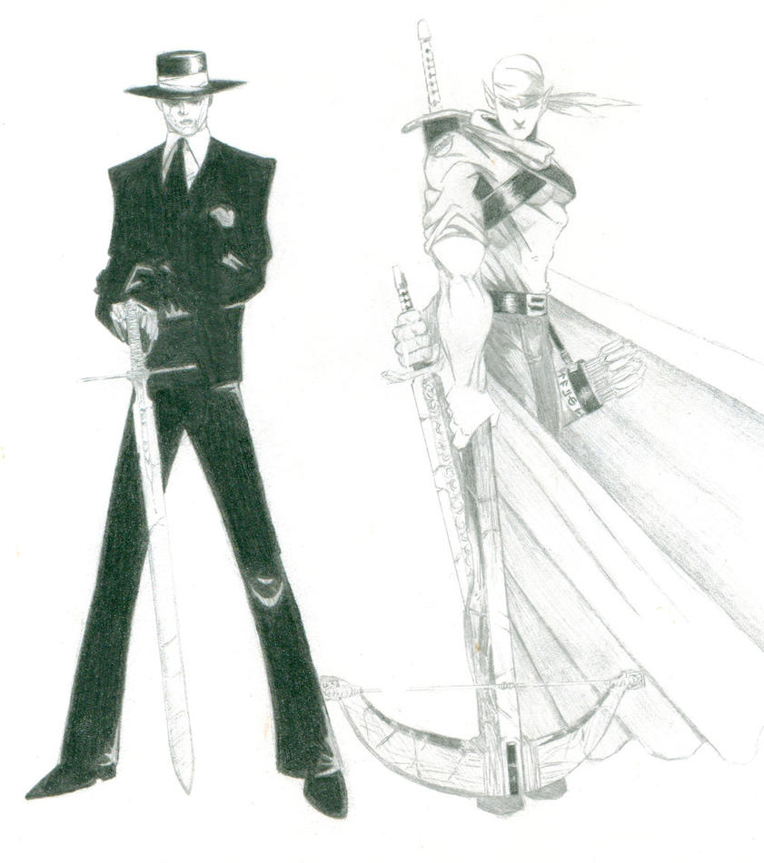 OCs Vampire guy and Elf guy by The-JoeBlack