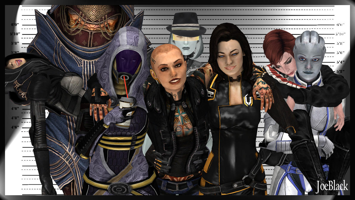 Mugshot - The ME Girls by The-JoeBlack
