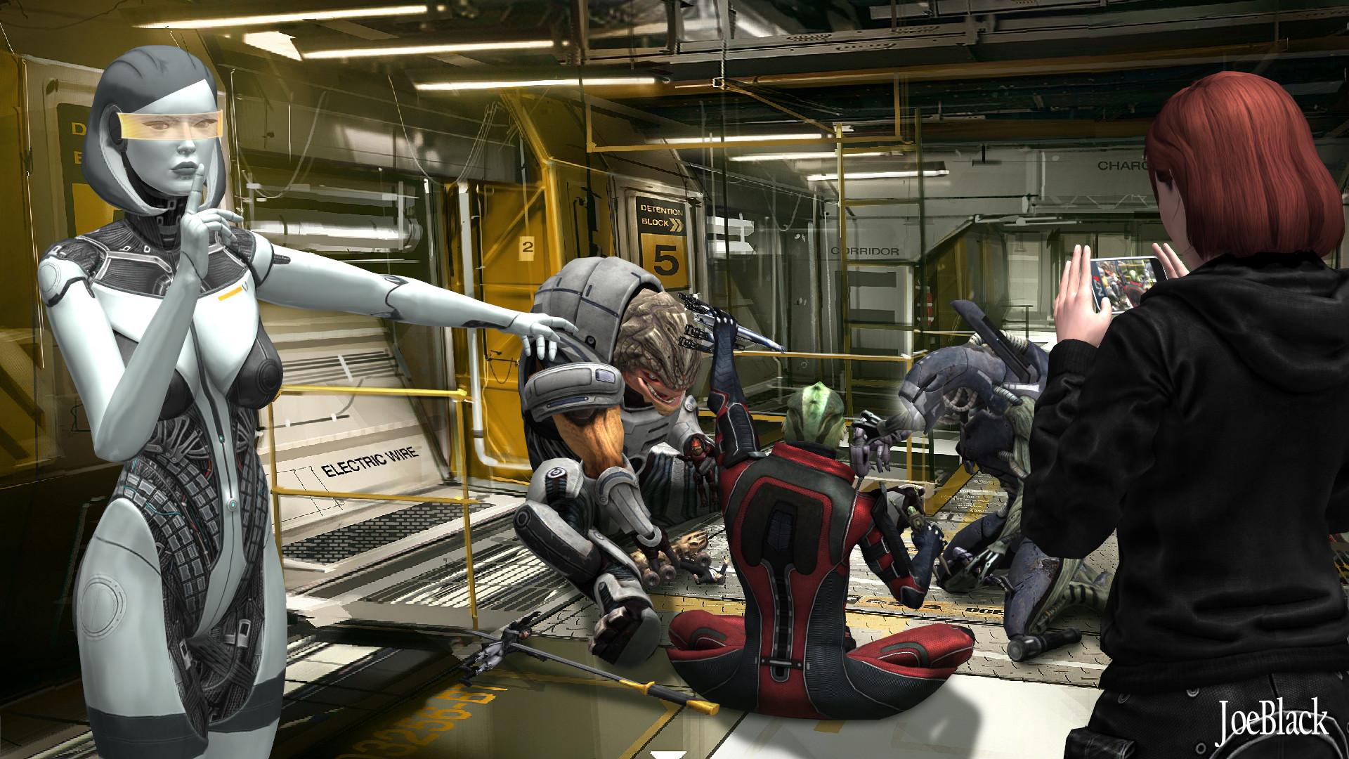 Mass Effect - Busted by JoesHouseOfArt