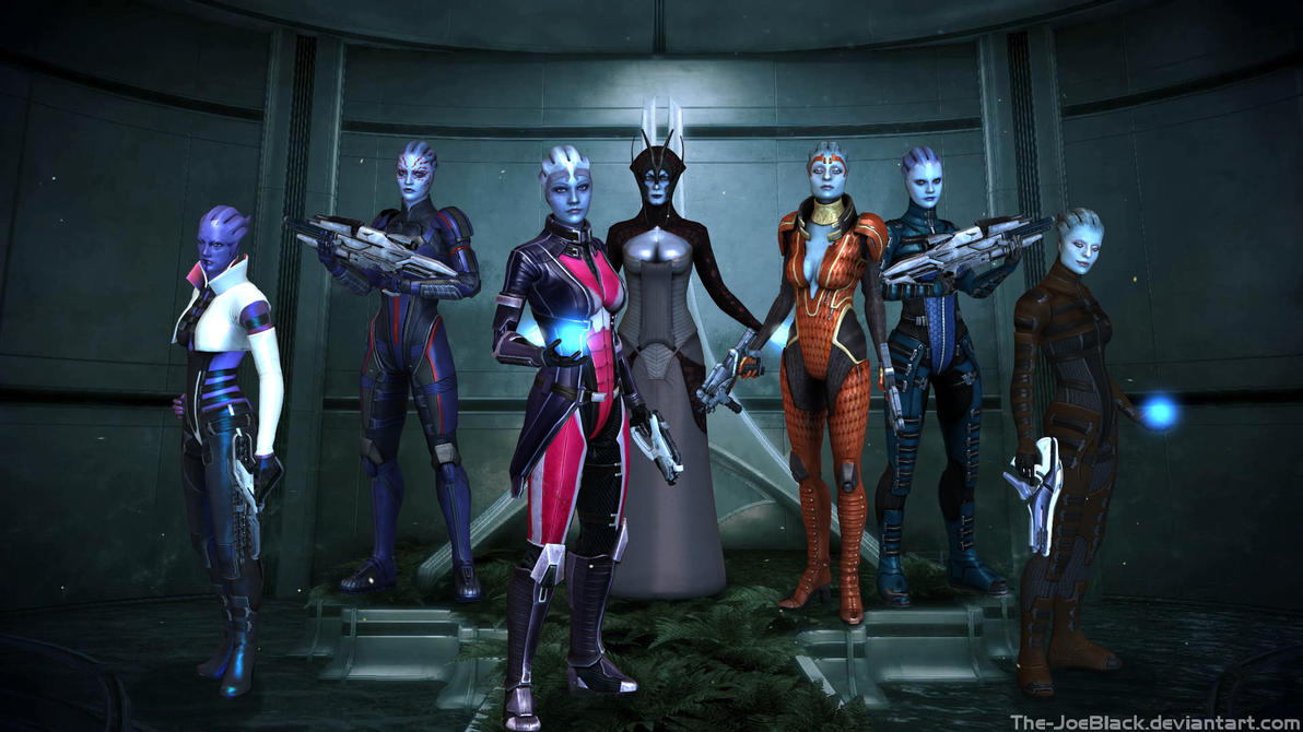 Mass Effect - The Asari by The-JoeBlack