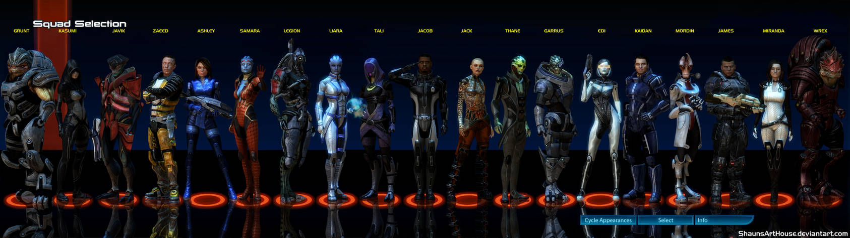 Mass Effect Squad Selection Complete By Shaunsarthouse On Deviantart-2762
