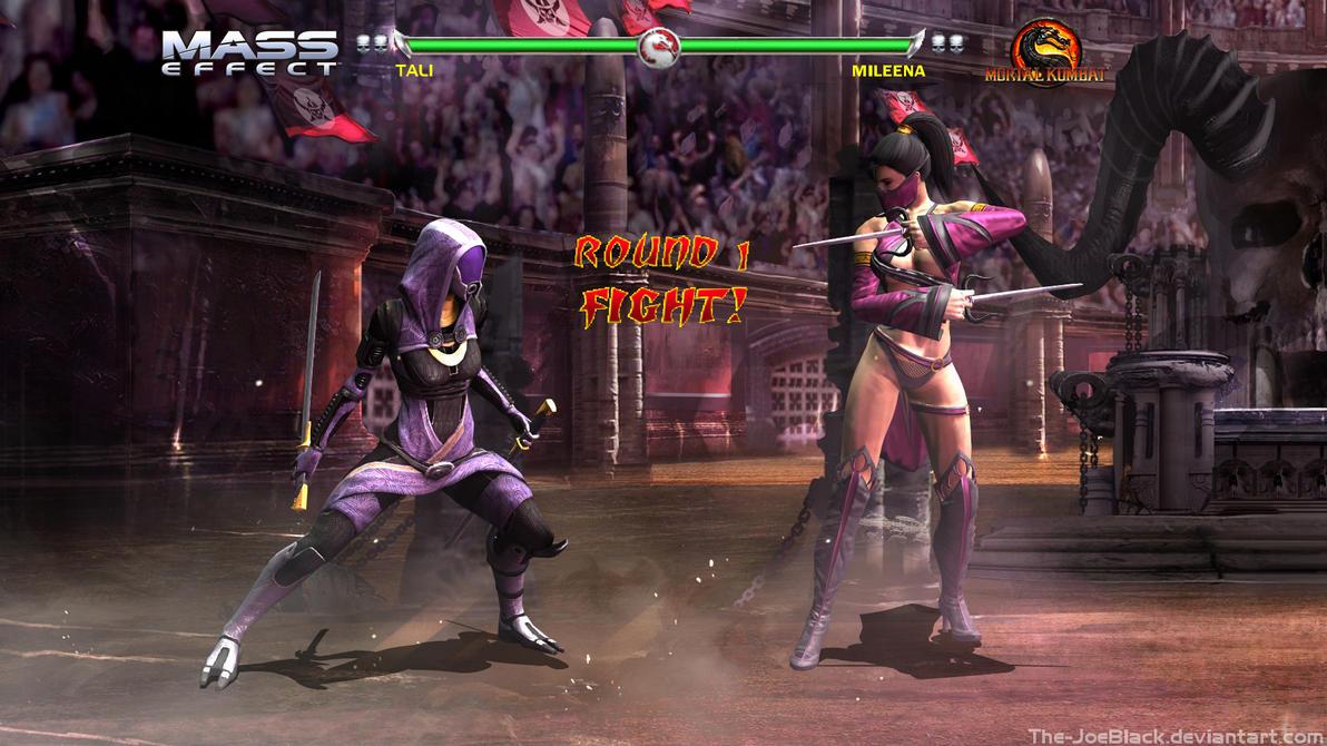 Krossover Kombat - Tali V Mileena by JoesHouseOfArt