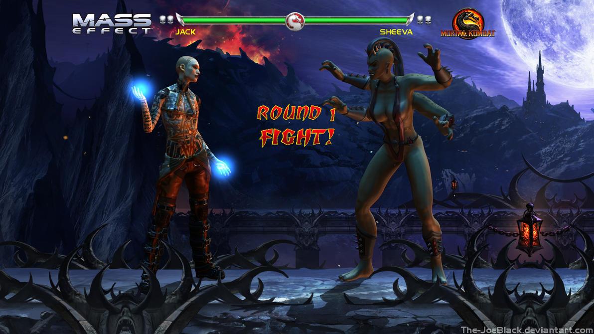 Krossover Kombat - Jack V Sheeva by JoesHouseOfArt