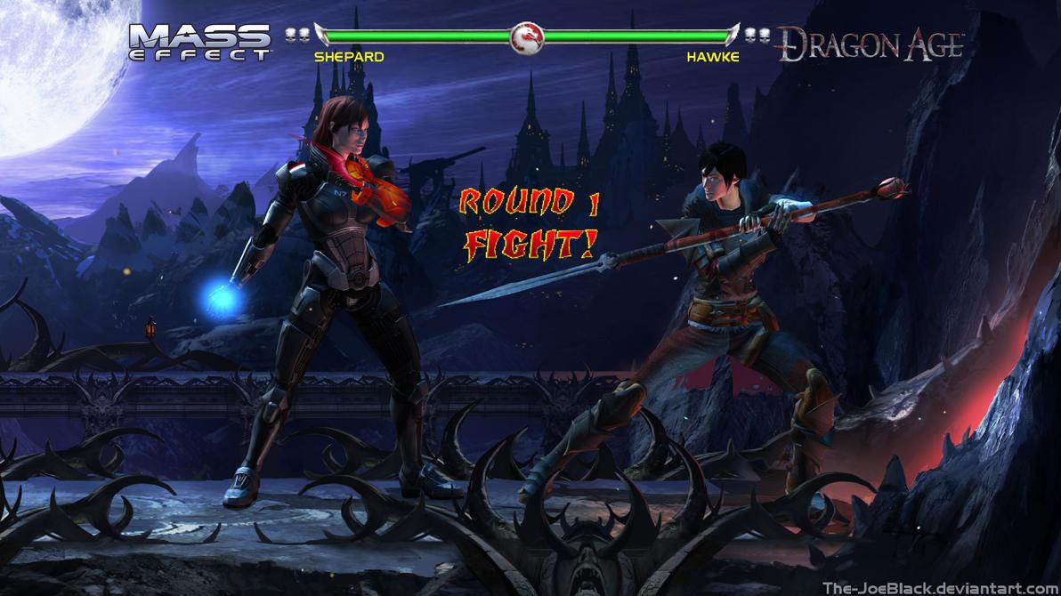 Krossover Kombat - FemShep V FemHawke by JoesHouseOfArt
