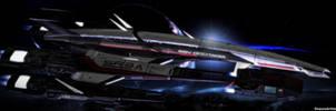 Mass Effect Occitania : The Ship by ShaunsArtHouse