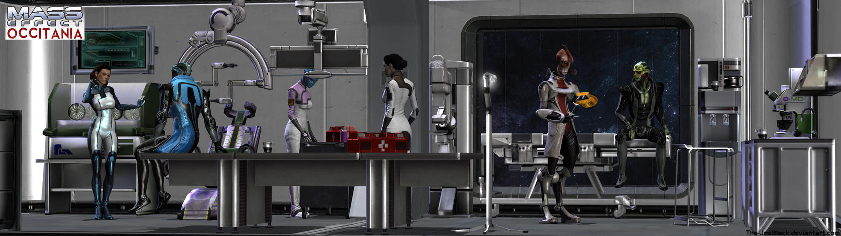 Mass Effect - Occitania: The Medlab by JoesHouseOfArt