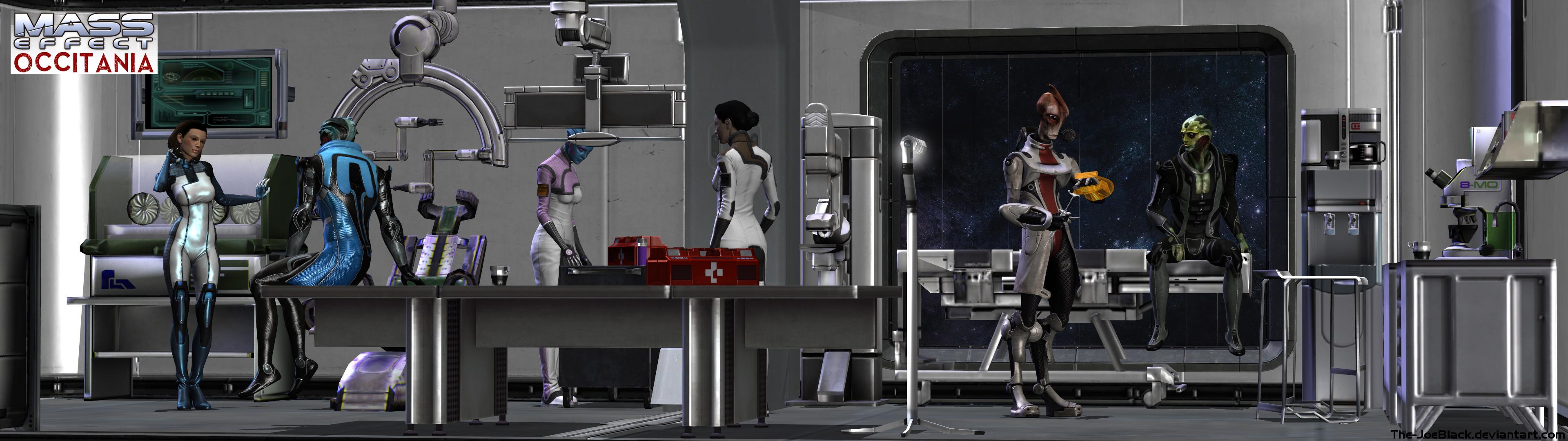 Mass Effect - Occitania: The Medlab by JoesHouseOfArt