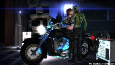 Romance on Illium - Thane and Jane by ShaunsArtHouse