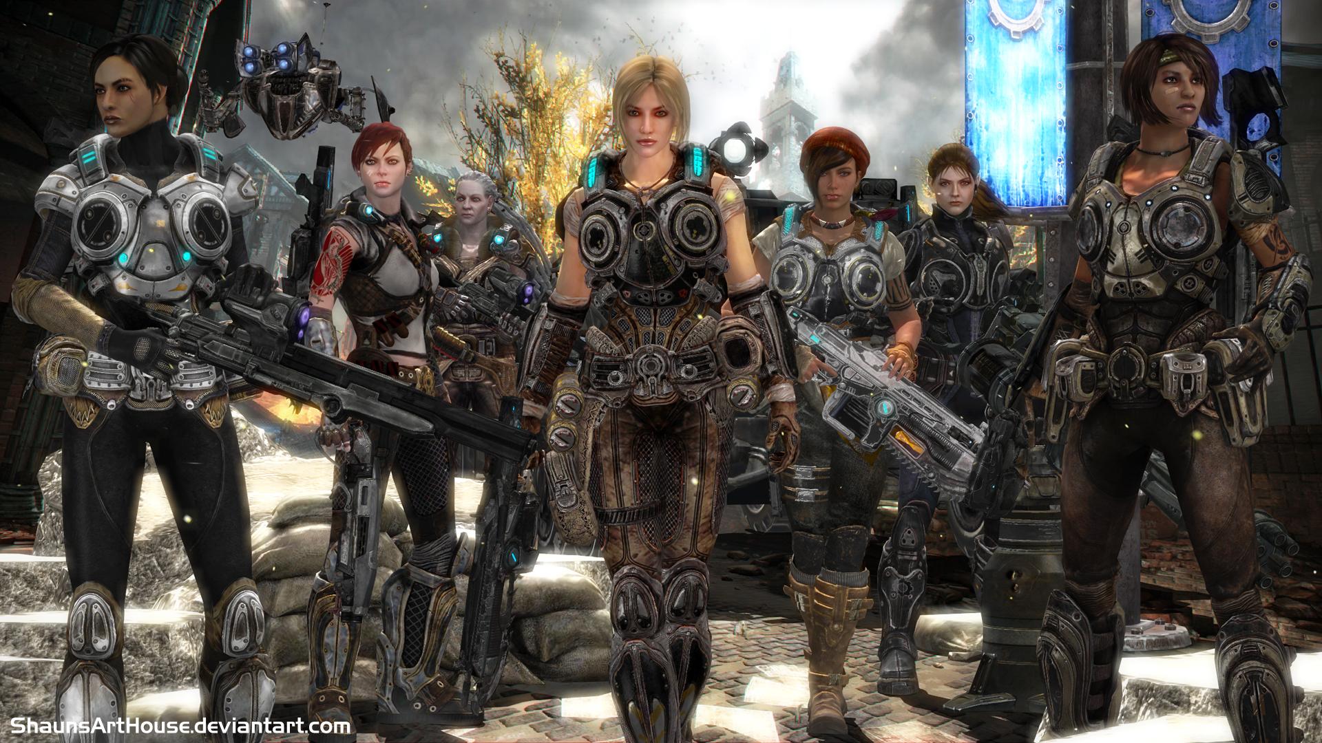 GOW- Gears Of War Girls By ShaunsArtHouse On DeviantArt