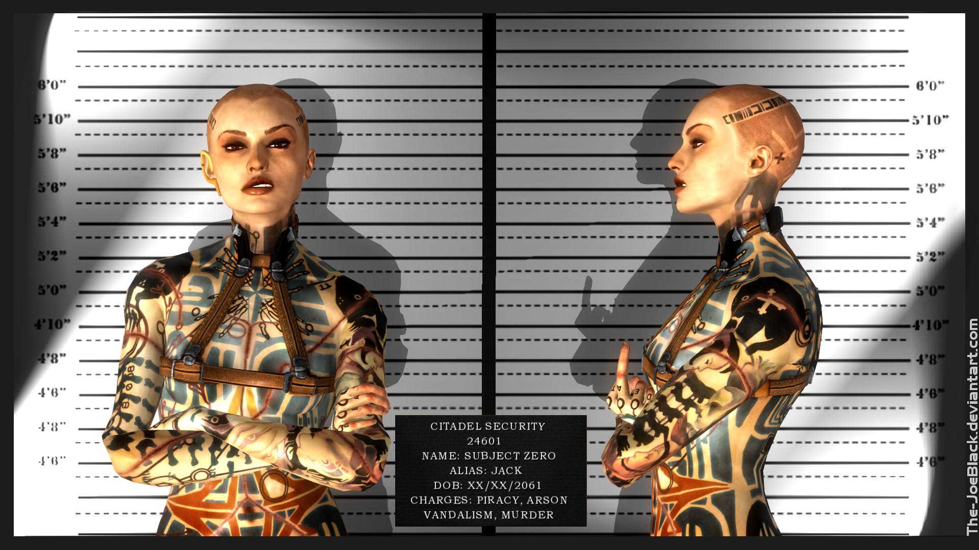 Mass Effect Mugshot Jack Subject Zero By Shaunsarthouse On Deviantart