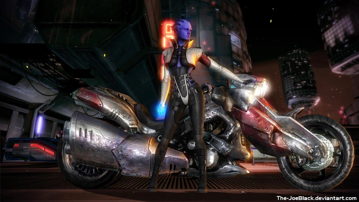 Mass Effect - Aria on Omega by JoesHouseOfArt