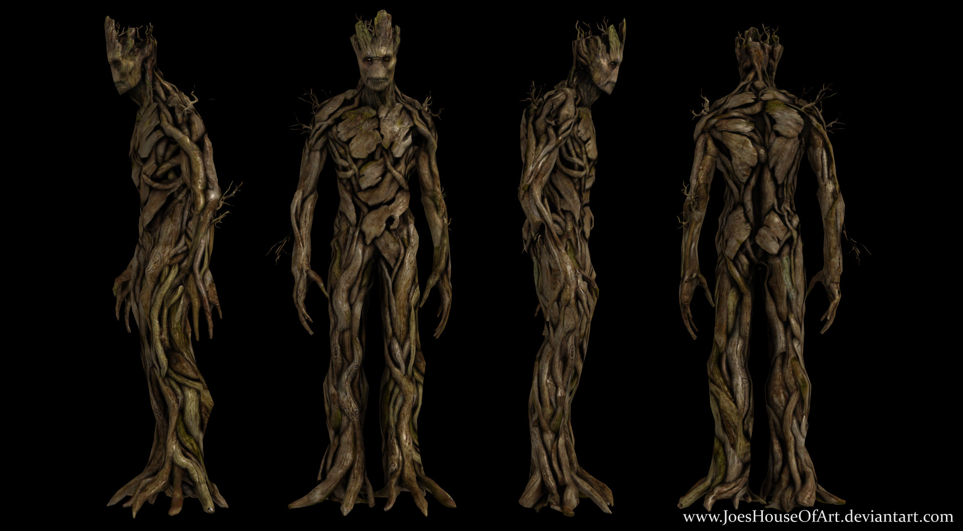GotG - Groot HD custom 3D model by ShaunsArtHouse on DeviantArt