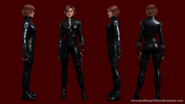 Scarlett Johansson Black Widow custom 3D model by ShaunsArtHouse