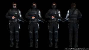 Winter Soldier - Bucky custom 3D model