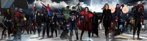 Avengers MCU - Dual Screen Wallpaper by ShaunsArtHouse